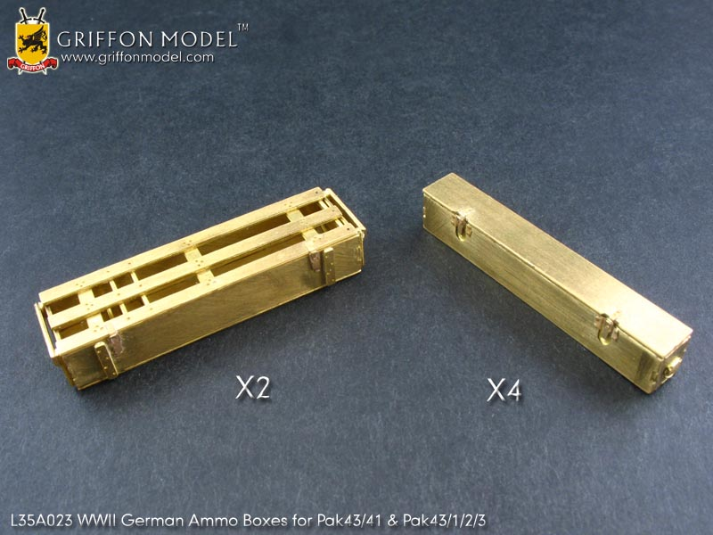 Griffon L35A024 1//35 WWII German Ammo Boxes for Pak38//Kw.K39