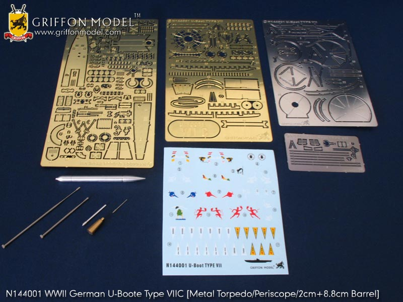 U-boot VIIC Revell 1/144 + PE Griffon Model 2008102917225956789